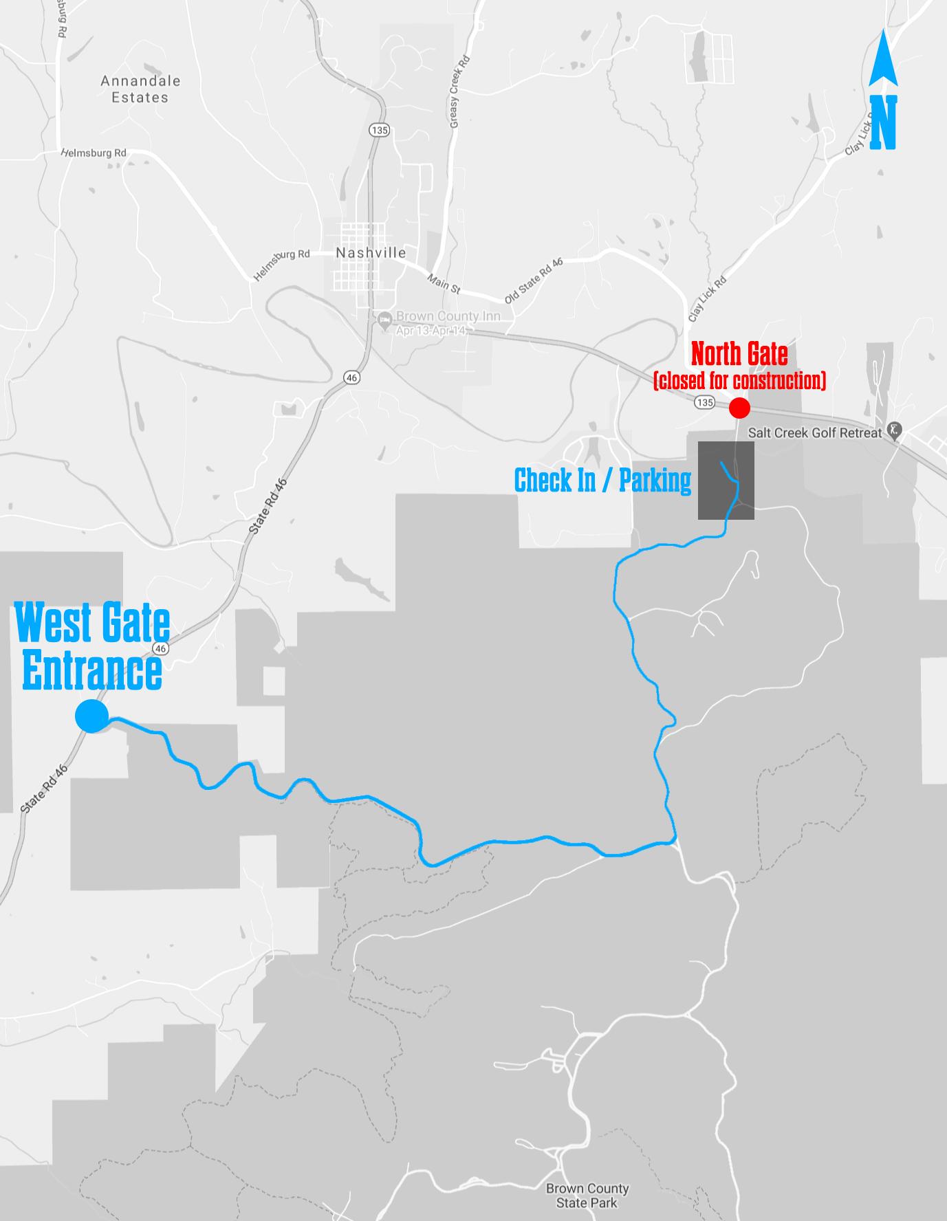 Park entrance map