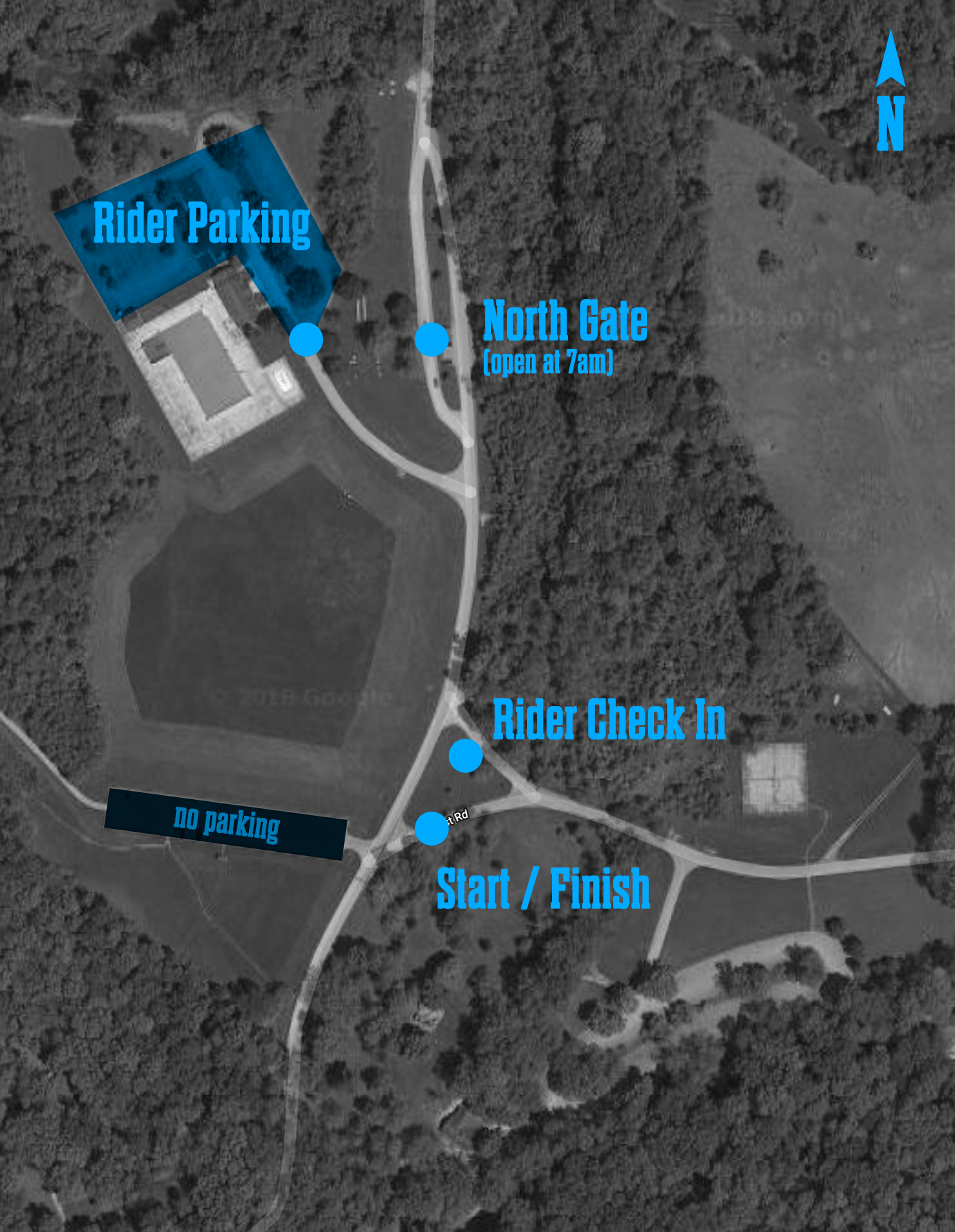 Check in and parking map